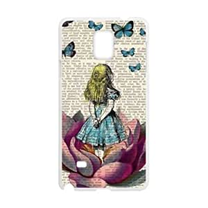 Happy Lovely butterfly girl Cell Phone Case for Samsung Galaxy Note4
