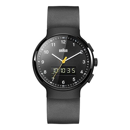 Braun Men's BN0159BKBKG Analog-Digital Display Japanese Quartz Black Watch