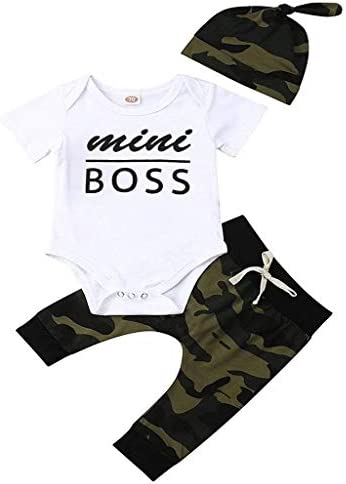 OCEAN-STORE Infant Baby Boys Girls 3-24 Months Deer Print Hoodie Tops+Pants Christmas Outfits Clothes