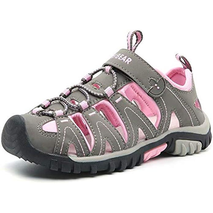 HOBIBEAR Boys Girls Sport Water Sandals Closed-Toe Outdoor(Toddler/Little Kid/Big Kid)