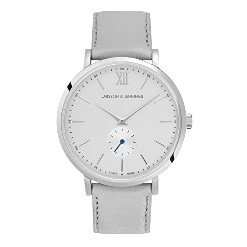 Larsson & Jennings Unisex-Adult Analogue Classic Quartz Watch with Leather Strap LGN38K-LLGRY-C-Q-P-SLG-O