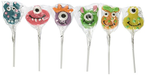[Fun Monster Head Suckers (1 dz)] (Cherry Apple Costumes)