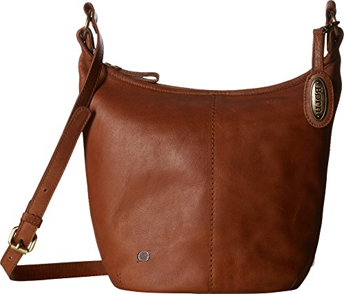 Born Womens Plymouth Distressed Bucket Hobo Saddle One Size