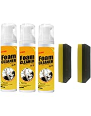 3/6 X 100ml Multipurpose Foam Cleaner Spray Multifunction Foam Cleaner Spray for Car Interior and House Kitchen Car Console Dashboard Leather Seat Door Window Lemon Flavor