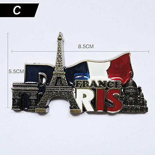 VWCDO Paris Torre Imán de Nevera Modelo de Edificio Famoso francés ...