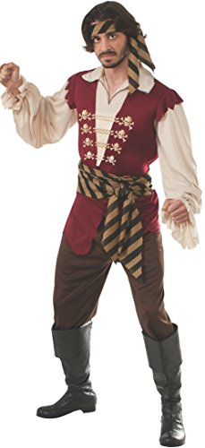 Rubie's Costume Pirate Raider Adult Costume, Multi, Standard (Mens Pirate Costumes)