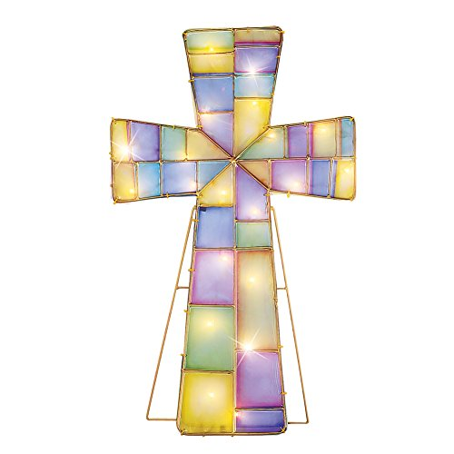 - Collections Etc Lighted Easter Cross Outdoor Decoration