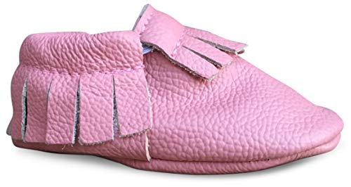 Lucky Love Baby Moccasins, Genuine Leather Size 5 -