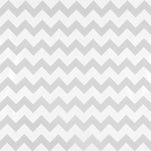 Oilcloth By The Yard (Silver Chevron Oilcloth - By the Yard)