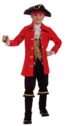 Forum Novelties Deluxe Designer Collection Captain Cutlass Costume, Child (Patrick Pirate Costumes)