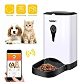 Gasky Automatic Cat Pet Smart Feeder - App Control Dog Food Dispenser with WiFi, Camera, Video, 4.5L Large Capacity,Distribution Alarms, Portion Control, Voice Recording,Timer Programmable