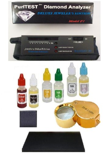 PuriTEST Purity Pack for testing Diamonds Gold Silver Platinum. Electronic Machine