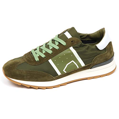 Philippe Shoe Model Leather E8922 Sneaker Man Toujours Verde Green Uomo tissue 6UW6wrqg