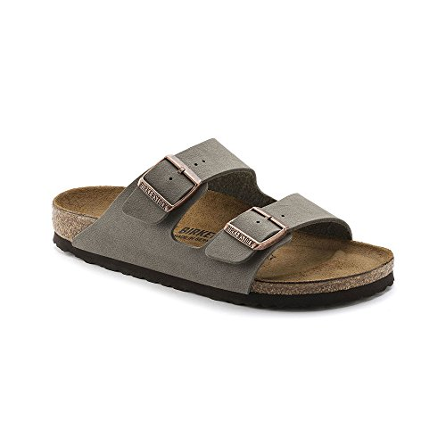 Birkenstock Unisex Arizona Stone Birkibuc Sandals - 39 N EU (US Men EU's 6-6.5, US Women EU's 8-8.5) by Birkenstock