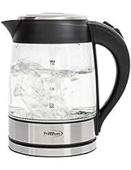 Premium 2 Qt Glass Electric Tea Kettle