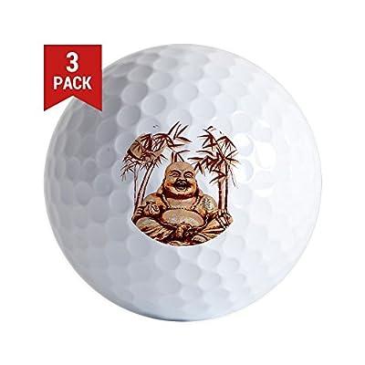 CafePress - Riyah-Li Designs Happy Buddha - Golf Balls (3-Pack), Unique Printed Golf Balls