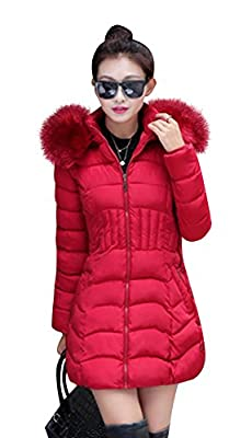 Mojessy Women's Parka Winter Coat Overcoat Long Down Jacket Outwear