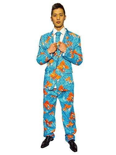 Pez Dorado Traje Azul Naranja: Amazon.es: Juguetes y juegos