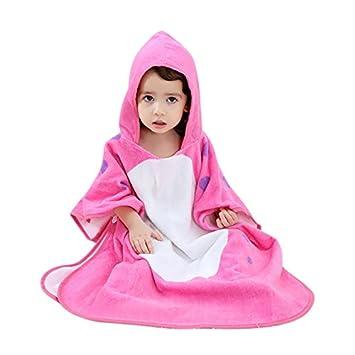 IBLUELOVER Peignoir Robe Enfants Serviette de Bain Filles Garçons Drap de  Bain à Capuche Bébé Poncho Wearable 100 % ... b86b5c84bf7