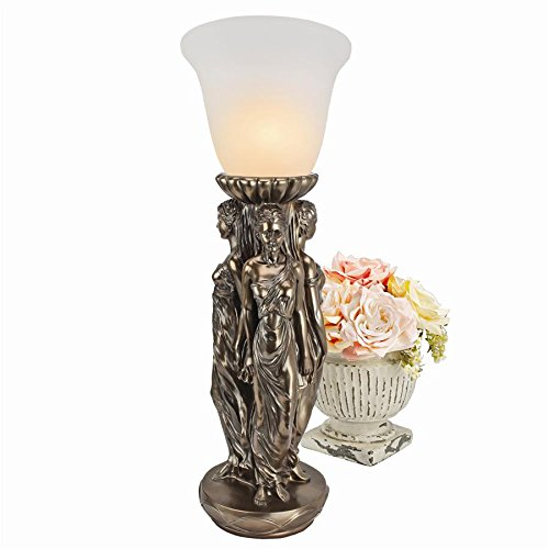 Madison Collection Three Graces Tabletop Torchiere Lamp