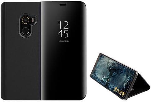 Funda® Espejo Enchapado Flip Xiaomi Pocophone F1 (Negro): Amazon ...