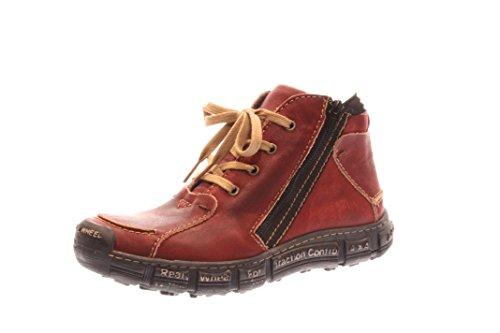 Mujeres Zapatos con cordones vino/negro rojo, (vino/negro) 401 warm vino