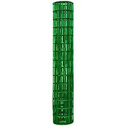 Garden Zone 60x50 Green Vinyl 2x4 14-Gauge Garden Fence