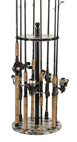 Organized Fishing Camo Round Floor Rack for Fishing Rod Storage, Holds up to 15 Fishing Rods, Camouflage Finish, - The Are Sunglasses Best Which