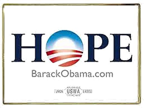 Official Barack Obama 2008 Hope Lapel Pin 1'' x -