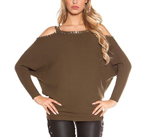 Mujer Para Jerséi Fashion Angies Glamour Caqui wqIZnfxn