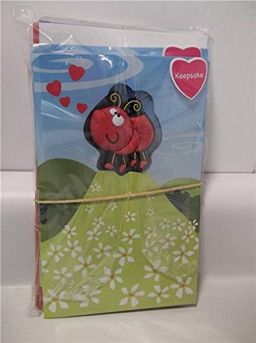 Recycled Paper Greetings, For Kids, Love Bug Magnet, Greeting Card & Envelope, Valentine