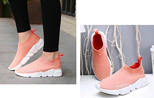Damen Laufschuhe für Herren Free Transform Flyknit Fashion Sneaker von JiYe Rosa