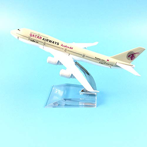 Marreto 16Cm Airlines Boeing 747 Qatar Airways Plane Aircraft Model Model Plane Simulation 16 Alloy Christmas Toys Gift Kids