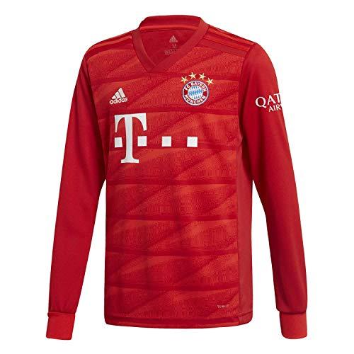 (adidas 2019-2020 Bayern Munich Home Long Sleeve Football Soccer T-Shirt Jersey (Kids))