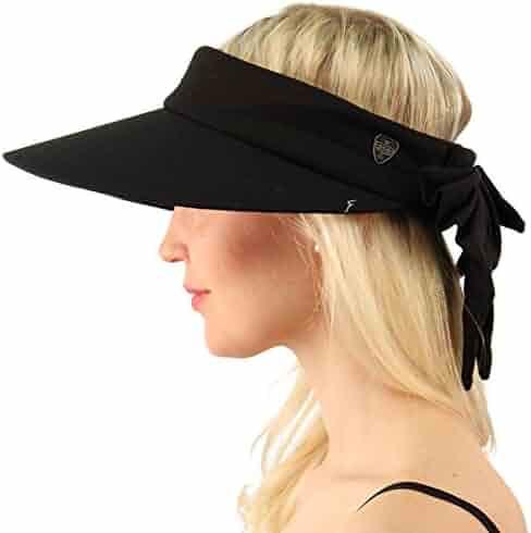 SK Hat shop Sun Protection UPF UV Wide Big Brim Linen Cotton Beach Pool  Visor Cap 9e2d706c107e