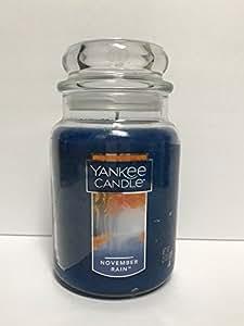 Amazon Com Yankee Candle November Rain Scented Candle Jar