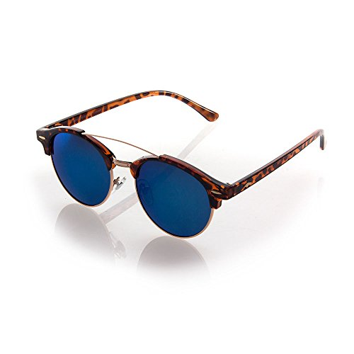 NYS Collection Eyewear Balfour Place Vintage Plastic Sunglasses (Tortoise Shell, - Sunglasses Shell Round Vintage Tortoise