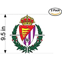 fan products of Real Valladolid Club de Futbol Spain Soccer Football Club FC 2 Stickers Car Bumper Window Sticker Decal Huge 9.5 inches