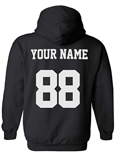 Desing Your OWN Hoodie  Custom Jersey Hoodies  Pullover Team Sweatshirts Black