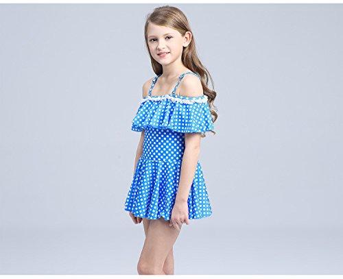 Pattern Pea One Piece Acvip Dress Girl Beach Strap Blu Toddler Swimsuit pxwq0n8pZS