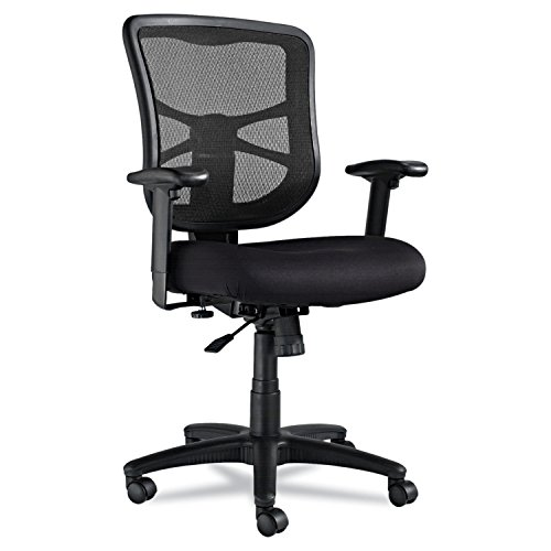 Alera ALEEL42BME10B Elusion Series Mesh Mid-Back Swivel/Tilt Chair, Black images