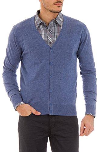 - Cashmere Company CARDIGAN AZ Light Blue Cashmere Blend Cardigan Sweater,EU=48/S