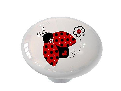 Ladybug Whimsy Ceramic Drawer Knob ()