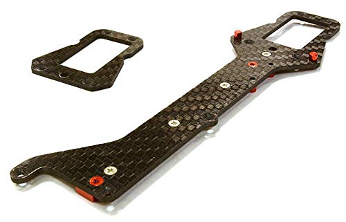 Integy RC Model Hop-ups C26498RED Machined Composite Chassis Upper Plate for Traxxas LaTrax Teton 1/18 Truck
