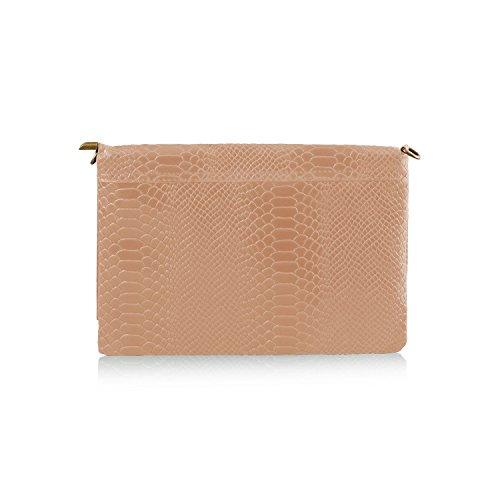 Italian Textured Trendy Shut Genuine Cashmere Mayfair Leather Fringe Women's Detail Dusty 2018 Body Flap Design Pink Cross Handbag dqREwRA