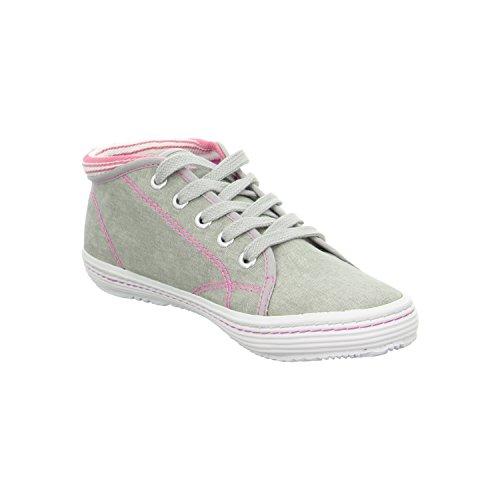 s.OLIVER Kinder Mädchen Sommer Jeans Canvas Sneaker in grau pink