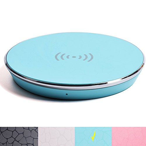Fast Wireless Charger,Y Chen QI Wireless Charging Pad Stand for iPhone 8/8plus iPhone X Nokia,for Samsung Galaxy Note 8 S8, S8 Plus, S7, S7 Edge, S6 Edge Plus,Blue (Best Corded Phone Uk)