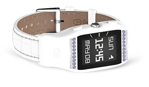 GolfBuddy Women's LD2 Golf GPS Watch with Swarovski Crystals, Small, White