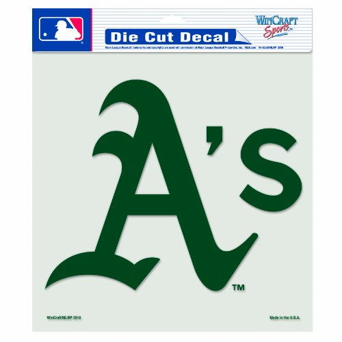 MLB Oakland Athletics 8-by-8 Inch Diecut Colored Decal ()