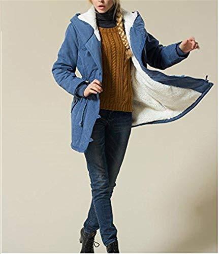 Cappotto Cappotto Caldo Con Invernale Esterna Pelliccia Giacca Cotone Cotone Cotone Giacca Saoye Invernale Invernale Cappuccio In Giacca Da Blau Fashion Cappotto Donna Con In Collo Giovane 6AqpRH1